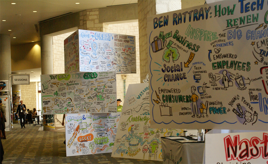 Visual Renderings of 2014 SXSW Talks