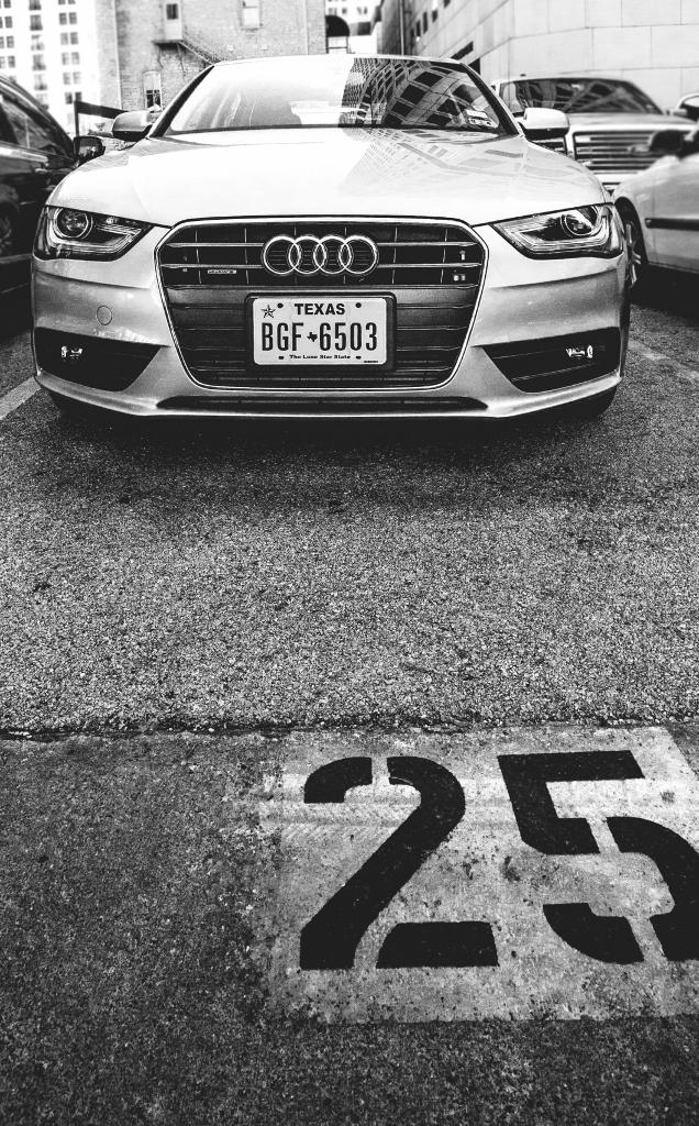 Always a silver, Wi-Fi'd Audi A4.