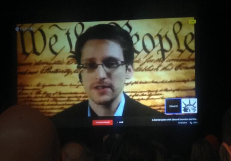 Edward Snowden Speaking to SXSW attendees